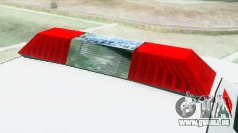 Premier Ambulance pour GTA San Andreas vue arrière