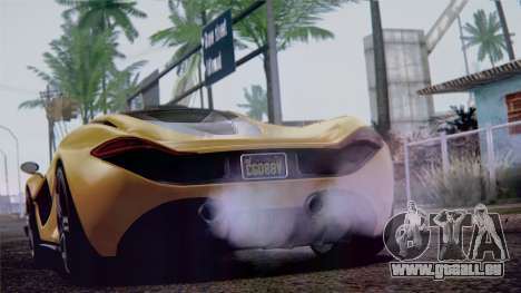 GTA 5 Progen T20 IVF pour GTA San Andreas vue de droite