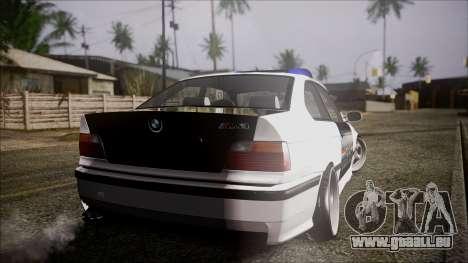 BMW M3 E36 Police pour GTA San Andreas laissé vue
