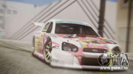 Subaru Impreza 2003 Love Live Muse Team Itasha für GTA San Andreas rechten Ansicht