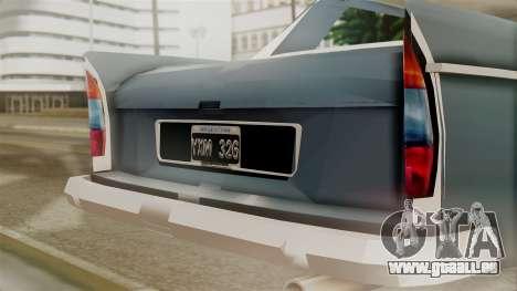 Peugeot 404 pour GTA San Andreas vue arrière