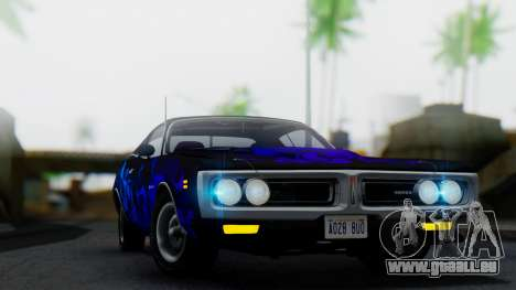 Dodge Charger Super Bee 426 Hemi (WS23) 1971 IVF pour GTA San Andreas vue de dessus