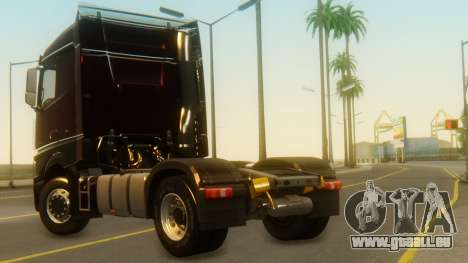 Mercedes-Benz Actros MP4 Stream Space Black pour GTA San Andreas laissé vue