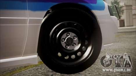 Chevrolet Impala FBI Slicktop pour GTA San Andreas sur la vue arrière gauche
