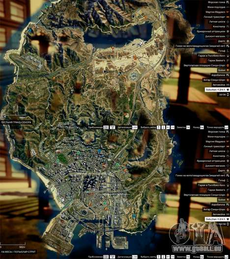 GTA 5 Sat-Karte in 2K dritten Screenshot