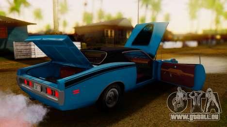 Dodge Charger Super Bee 426 Hemi (WS23) 1971 IVF pour GTA San Andreas vue intérieure