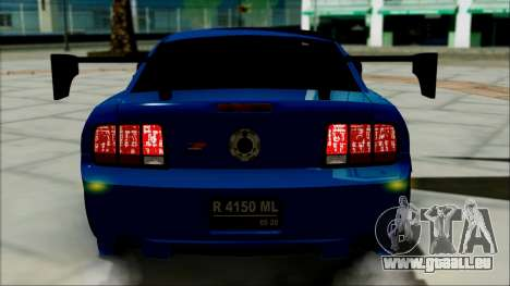 Ford Mustang GT Modification für GTA San Andreas Innenansicht