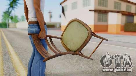 Chair from Silent Hill Downpour pour GTA San Andreas troisième écran