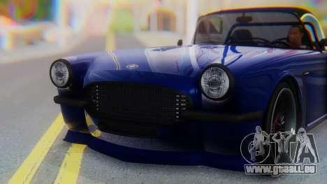 Invetero Coquette BlackFin v2 GTA 5 Plate pour GTA San Andreas vue de côté