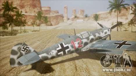 Messerschmitt BF-109 E-4 IJAAF pour GTA San Andreas laissé vue
