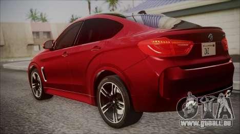 BMW X6M 2015 für GTA San Andreas linke Ansicht