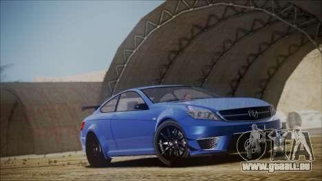 Benefactor Schwartzer Gray Series für GTA San Andreas rechten Ansicht