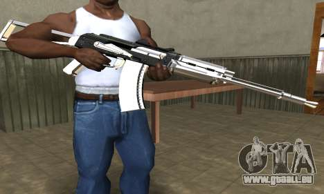 White with Black AK-47 für GTA San Andreas