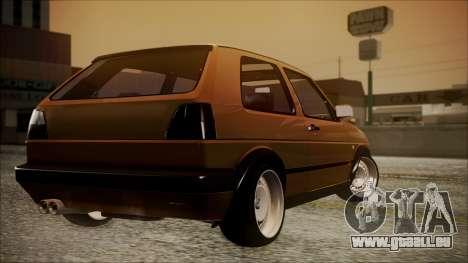 Volkswagen Golf Mk2 Schmidt TH Line pour GTA San Andreas laissé vue