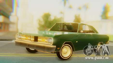 Dodge Dart Coupe pour GTA San Andreas sur la vue arrière gauche