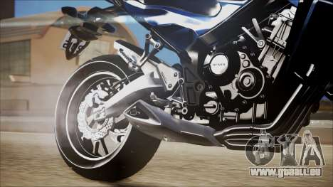 Honda CB650F Azul pour GTA San Andreas vue de droite