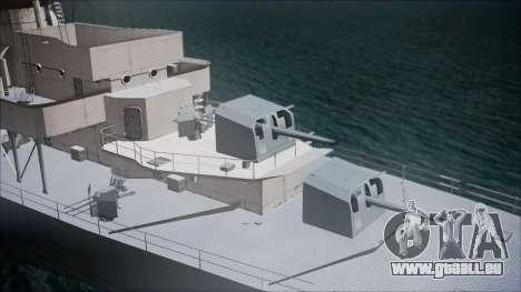 Type 34 Destroyer für GTA San Andreas zurück linke Ansicht