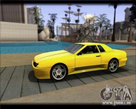 Elegy Hard Stunt für GTA San Andreas Rückansicht