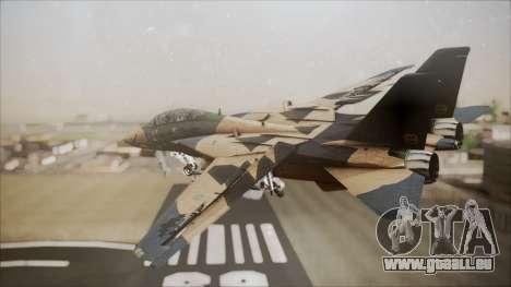 F-14D AC6 Halloween für GTA San Andreas linke Ansicht