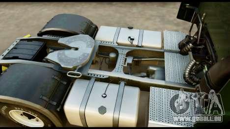 Mercedes-Benz Actros MP4 4x2 Exclusive Interior pour GTA San Andreas vue arrière