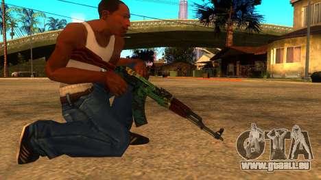 AK-47 Fire Serpent für GTA San Andreas zweiten Screenshot