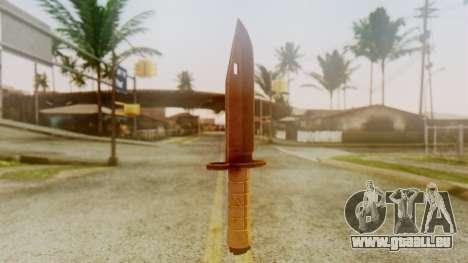 Combat Knife pour GTA San Andreas deuxième écran