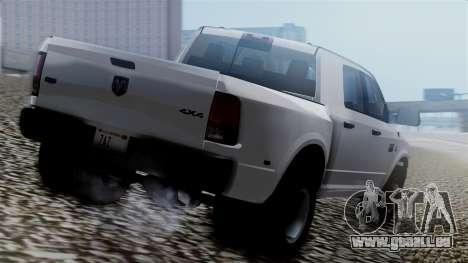 Dodge Ram 3500 2010 pour GTA San Andreas laissé vue