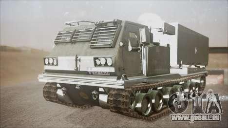 Hellenic Army M270 MLRS pour GTA San Andreas vue de droite