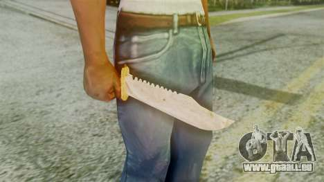 Red Dead Redemption Knife Diego Skin für GTA San Andreas dritten Screenshot