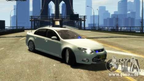 Ford Falcon FG XR6 Turbo Unmarked Police [ELS] für GTA 4