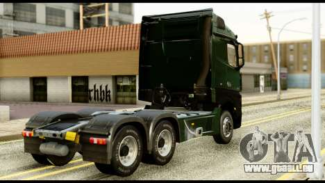 Mercedes-Benz Actros MP4 6x4 Standart Interior für GTA San Andreas linke Ansicht