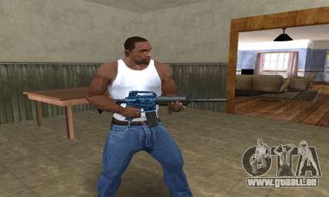 M4 Blue Snow pour GTA San Andreas troisième écran