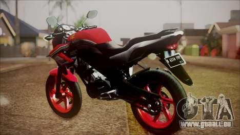 Honda CB150R Streetfire pour GTA San Andreas laissé vue