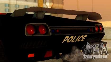 Lamborghini Diablo Police SA Style pour GTA San Andreas vue de droite