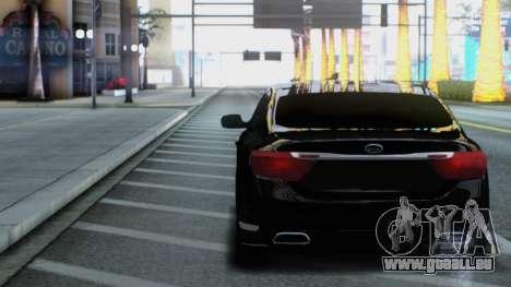 Kia Quoris pour GTA San Andreas vue arrière