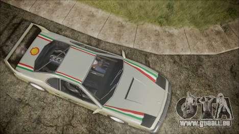 Turismo F40 pour GTA San Andreas vue intérieure