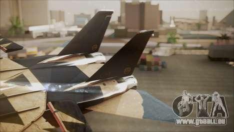 F-14D AC6 Halloween pour GTA San Andreas sur la vue arrière gauche