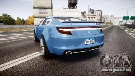 GTA V Ocelot Jackal new york plates pour GTA 4 Vue arrière de la gauche