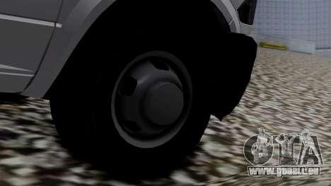 Dodge Ram 3500 2010 pour GTA San Andreas sur la vue arrière gauche