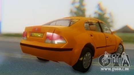 Samand Taxi pour GTA San Andreas laissé vue