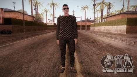 Skin1 from DLC Gotten Gaings pour GTA San Andreas deuxième écran