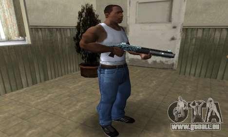 Blue Snow Shotgun pour GTA San Andreas troisième écran