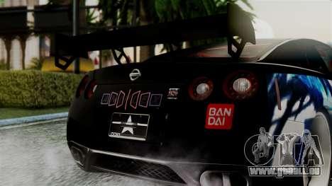 Nissan GT-R R35 Black Rock Shooter Itasha für GTA San Andreas rechten Ansicht