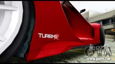 Grotti Turismo RXX-K v2.0 pour GTA San Andreas sur la vue arrière gauche