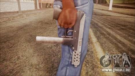 TEC-9 v1 from Battlefield Hardline pour GTA San Andreas troisième écran