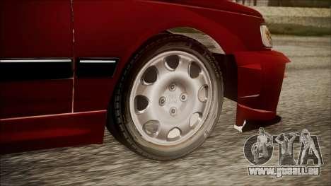 Peugeot Pars The Best Full Sport v1 pour GTA San Andreas sur la vue arrière gauche