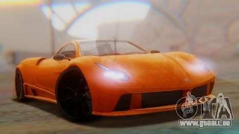 GTA 5 Pegassi Osiris SA Style für GTA San Andreas zurück linke Ansicht
