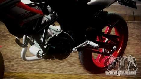 Honda CB150R Streetfire für GTA San Andreas Rückansicht