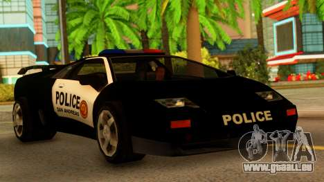 Lamborghini Diablo Police SA Style pour GTA San Andreas