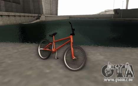 BMX HD pour GTA San Andreas sur la vue arrière gauche